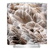 Mammoth Hot Springs Closeup Shower Curtain