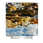 Mammoth Hot Springs Rock Formation No1 Shower Curtain