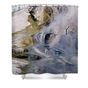 Mammoth Hot Springs Terrace Shower Curtain