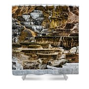 Mammoth Hot Springs - Yellowstone Shower Curtain
