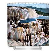 Mammoth Hot Springs Yellowstone Np Shower Curtain