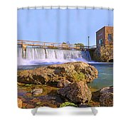 Mammoth Spring Dam And Hydroelectric Plant - Arkansas Shower Curtain