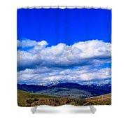 Mammoth Springs Shower Curtain