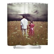Man And Girl Shower Curtain