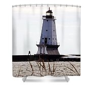 Man And Light Shower Curtain