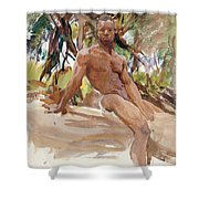 Man And Trees. Florida Shower Curtain