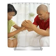 Man And Wife Pray Shower Curtain
