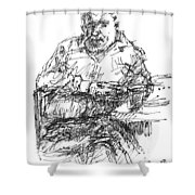 Man At The Bar Shower Curtain