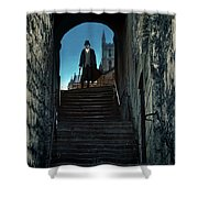 Man At The Top Of The Steps Shower Curtain