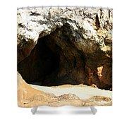 Shell Beach Man Cave Shower Curtain