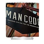Man Code Shower Curtain