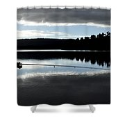 Man Fly Fishing Shower Curtain