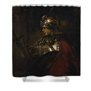 Man In Armor Shower Curtain