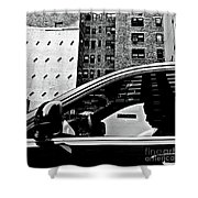 Man In Car - Scenes From A Big City Shower Curtain