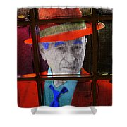 Man In Red Fedora Shower Curtain