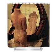 Man In The Mirror Shower Curtain