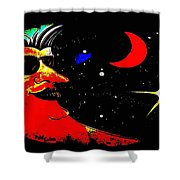Man In The Moon Edited Shower Curtain