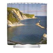 Man O' War Cove - Dorset Shower Curtain