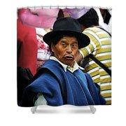 Man Of Cotacachi Ecuador Shower Curtain