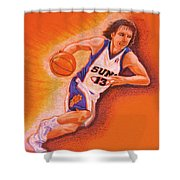 Man On Fire Shower Curtain