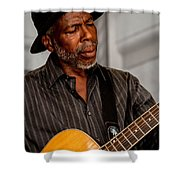 Man On Guitar Shower Curtain