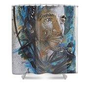 Man Portrait By C215 Shower Curtain