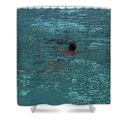 Man Swimming Shower Curtain