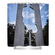 Man With A Briefcase II Shower Curtain