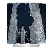 Man With A Briefcase Shower Curtain