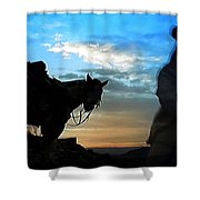 Man With His Horse Shower Curtain