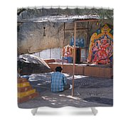 Man Worshiping Shower Curtain