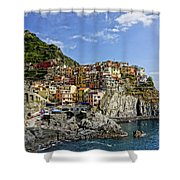 Manarola Italy Dsc02563  Shower Curtain