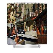 Manarola  Street - Cinque Terre Shower Curtain
