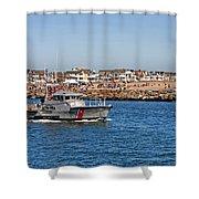 Manasquan Inlet Coast Guard Shower Curtain