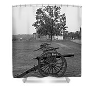 Manassas Battlefield Cannon And House Shower Curtain