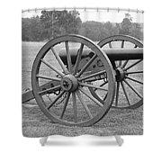 Manassas Battlefield Cannon Shower Curtain