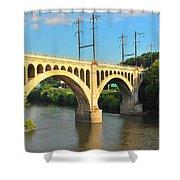 Manayunk Stone Arch Bridge Shower Curtain