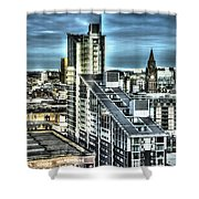 Manchester Buildings Hdr Shower Curtain