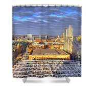 Manchester Skyline Panoramic Hdr Shower Curtain
