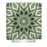 Mandala 107 Green Shower Curtain