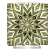 Mandala 107 Yellow Shower Curtain