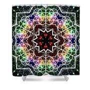 Mandala Cage Of Light Shower Curtain