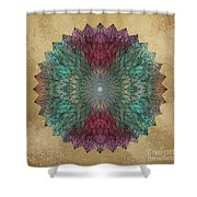 Mandala Crystal Shower Curtain by Filippo B