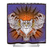 Mandala Owl Shower Curtain