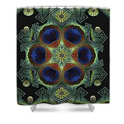 Mandala Peacock  Shower Curtain