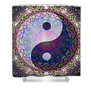 Mandala Yin Yang Shower Curtain