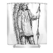 Mandan Indian Chief Shower Curtain
