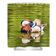 Mandarin Reflection Shower Curtain