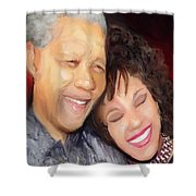 Mandela And Whitney Shower Curtain