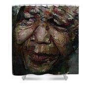 Mandela   Shower Curtain by Paul Lovering
